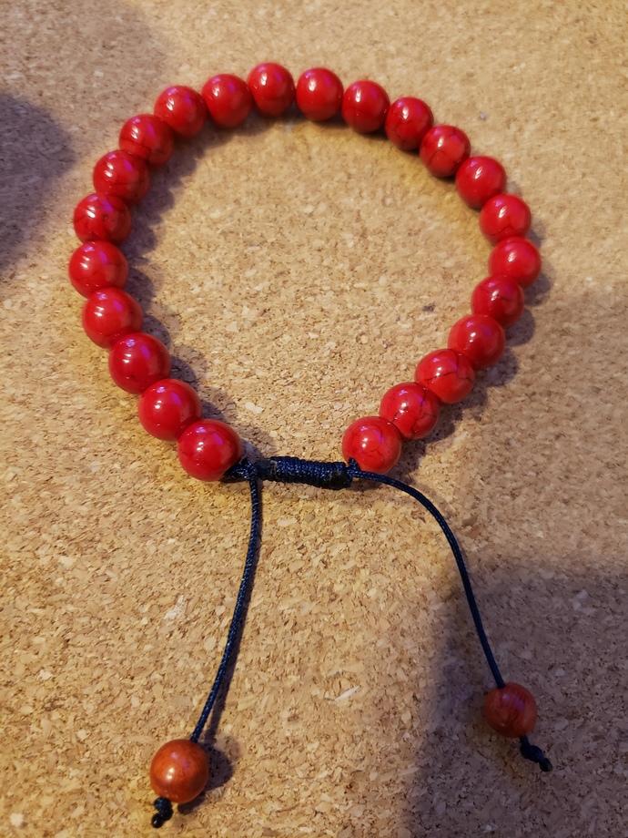 Red magnesite bracelet