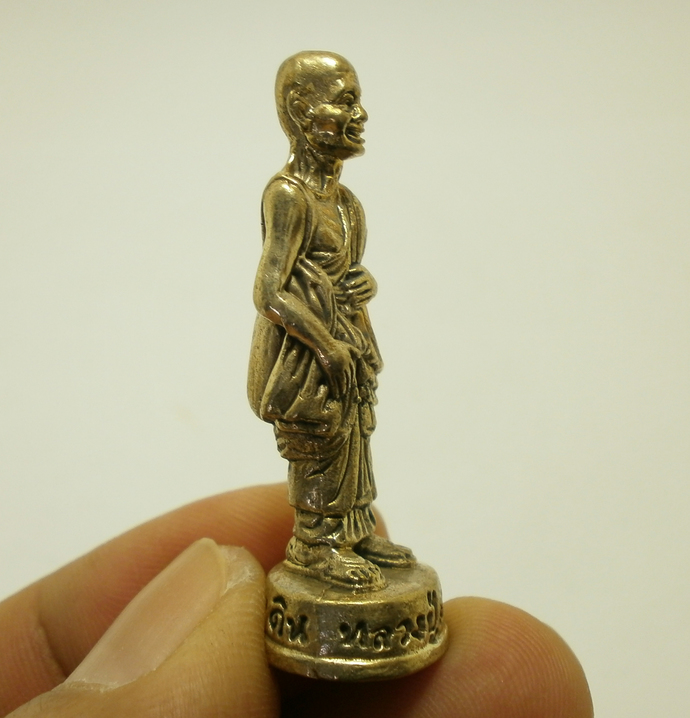 LP Suang mini statue figurine blessed Srisaket magic monk amulet multiply money