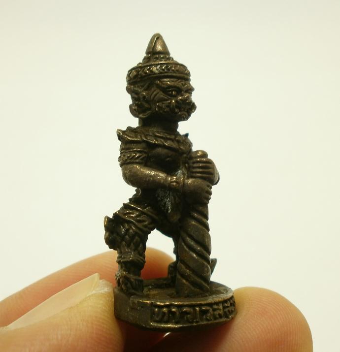 LP Moon magic monk blessed Thao Wessuwan mini figurine statue Asura Deva Wealthy