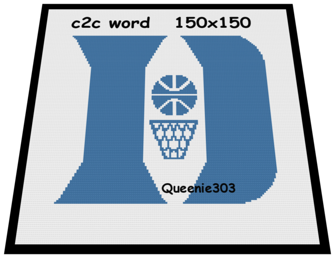 Duke Blue Devils 150x150 c2c (CORNER to CORNER)
