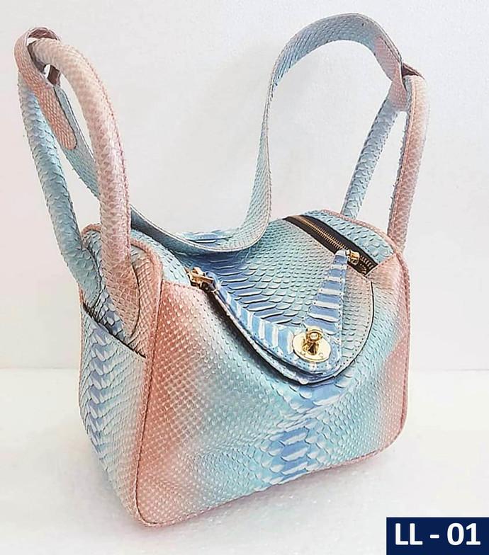 Genuine Python Snakeskin Lindy Bag
