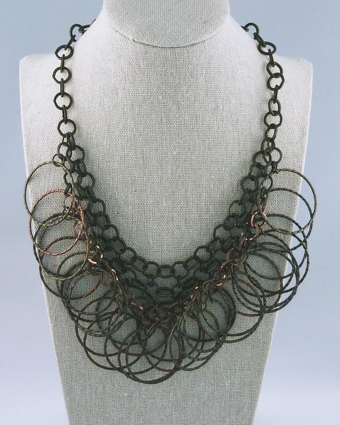 17'' Chain Necklace Bronze Color
