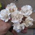 6 x Gorgeous 35mm wide Paper Flowers - Very Firm