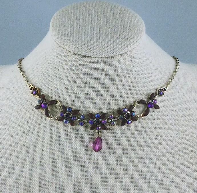 16'' Vintage Choker with Purple Stones