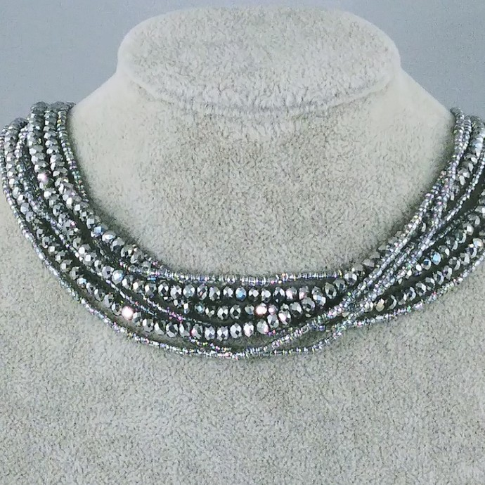 17'' Multi Strand Seed bead Necklace