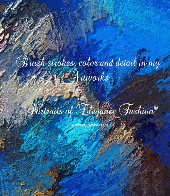Blue Boulder Opal Headband - Yoga Headband hand painted, scrunchy, neck warmer,