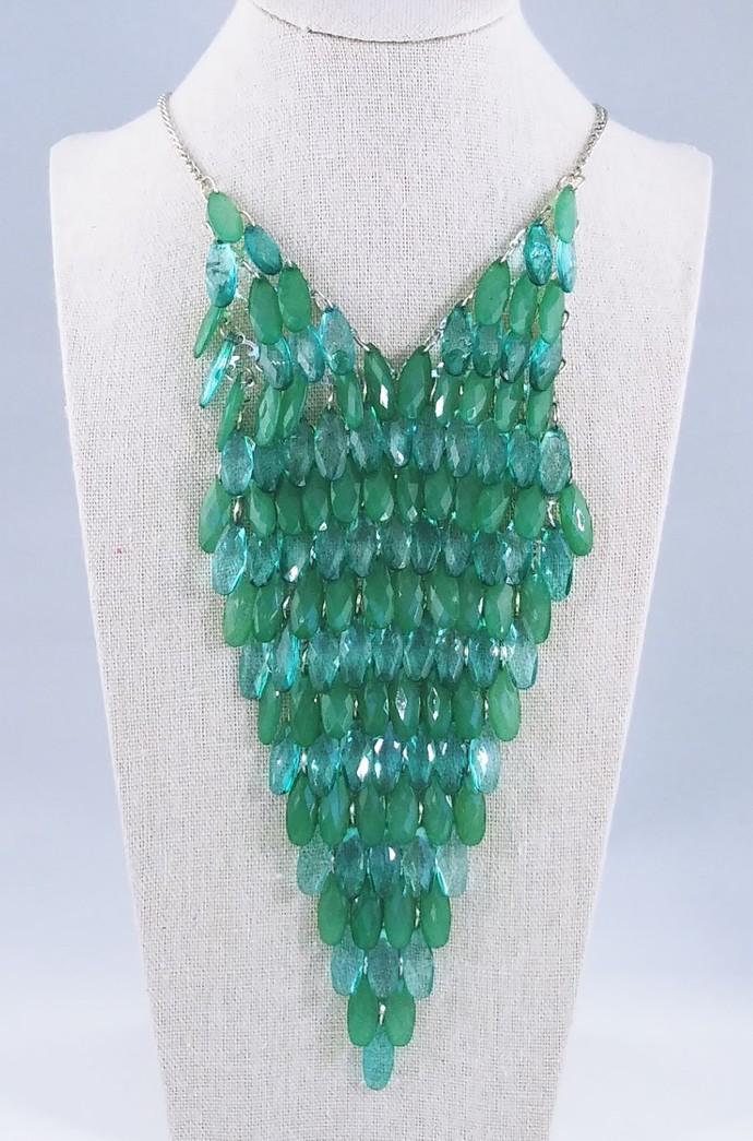 17'' Draped Beaded Necklace