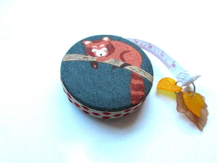 Measuring Tape Red  Panda Small Retractable Tape Measure