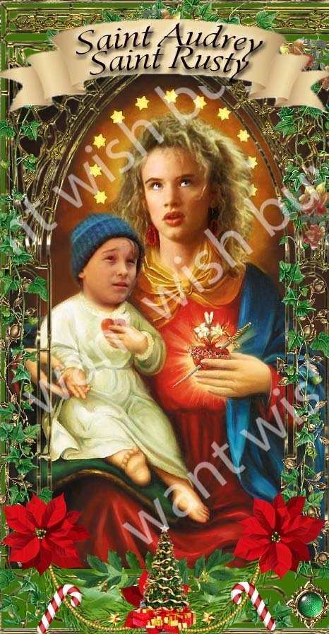 Audrey and Rusty Griswold - Christmas Vacation -  Celebrity Saint Prayer Candles