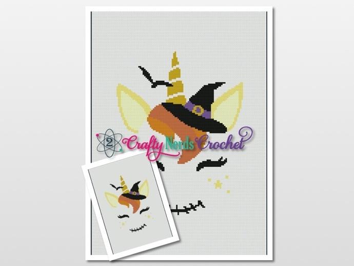 Halloween Unicorn Pattern Graph and Single, MiniC2C, TSS Written