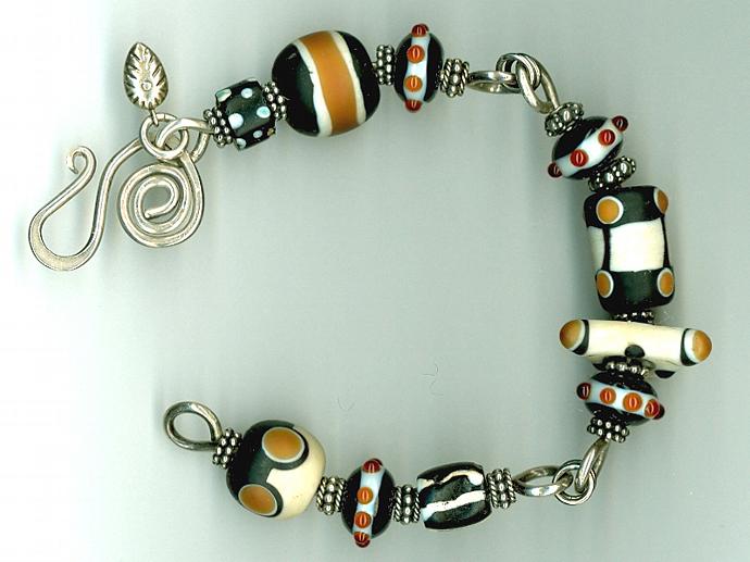 Tribal Lampwork Bead Bracelet
