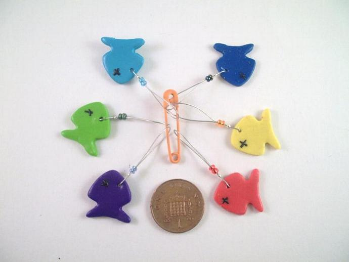 Goin' Fishin' Stitch Markers - Set of 6