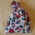 Fabric gift bag,  Pink and red floral fabric, Party bag, Recyclable bag,