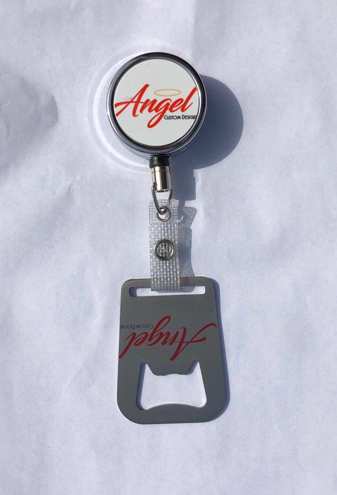 Custom Badge Reel w/ Bottle Opener