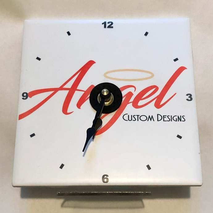 Custom ceramic clock