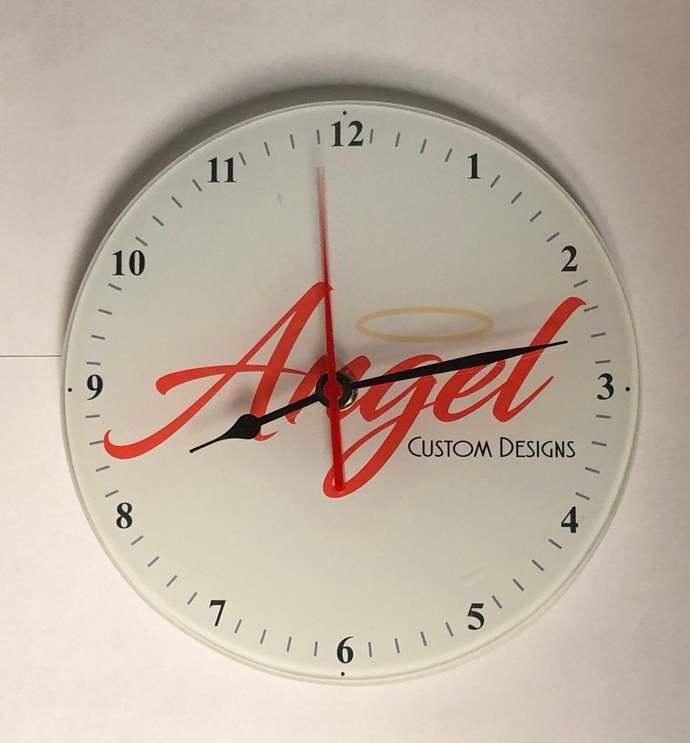 Custom glass clock