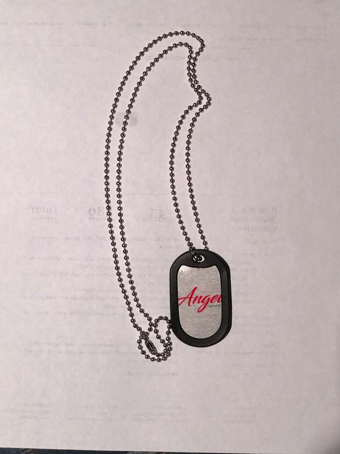 Custom dog tag chain