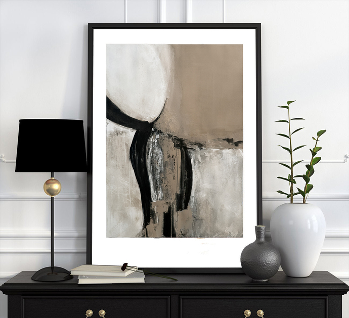 Printable abstract, contemporary art, print from original painting, neutral wall