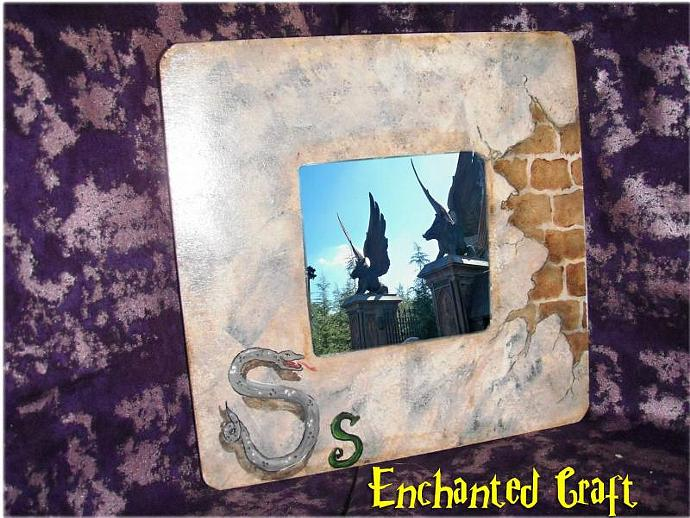 SLYTHERIN House Picture Frame- personalize this for your HARRY POTTER FAN