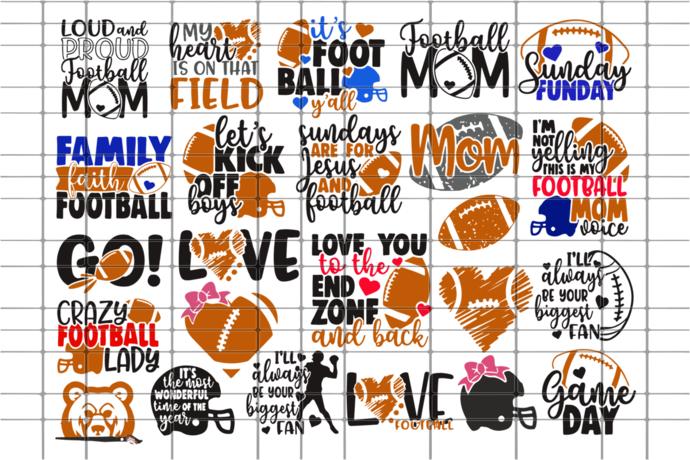 Football bundle, football svg, football gift, football lover, football lover