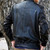 Genuine Black Biker Exotic Python Snakeskin and Lambskin Leather Bomber Jacket