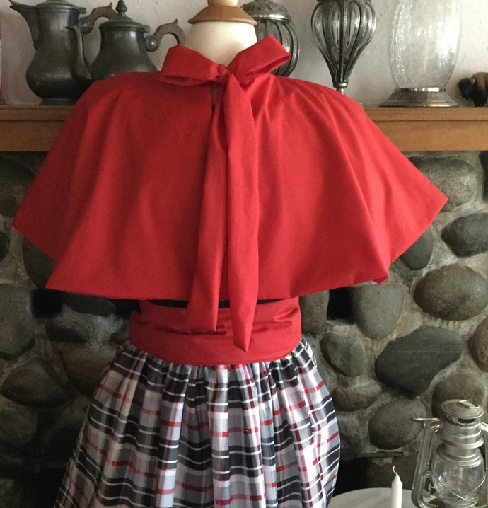 Victorian Capelet Civil War Shoulder Cape Pioneer Trek Clothing