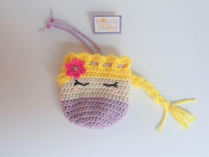Princess Punzel Trinket Pouch/ Drawstring