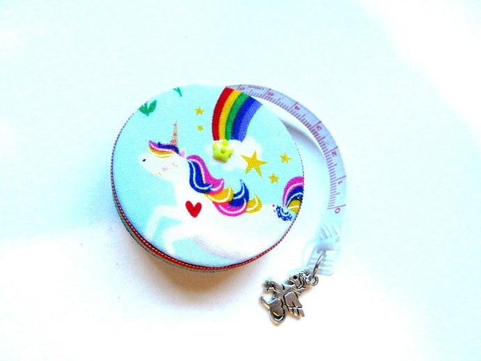 Tape Measure Rainbows and Unicorns Small Retractable Measuring Tape