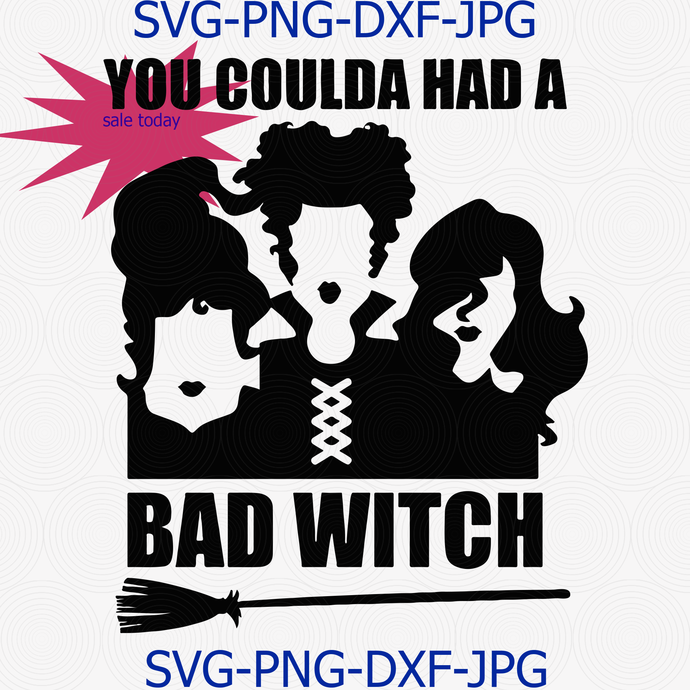 You Coulda Had A Bad Witch Svg Png Cut File, Halloween Svg, Sanderson Sisters