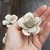 5 Book Page Paper Flower Hair Pins, Literary Flowers for Prom or Wedding Hair