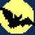 Bat and Moon C2C Crochet Pattern Panel Graph and Color Block Directions Only