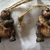 Vintage Rustic Snowmen,Bear with a Fish & Flying Angels Christmas Ornaments-Lot