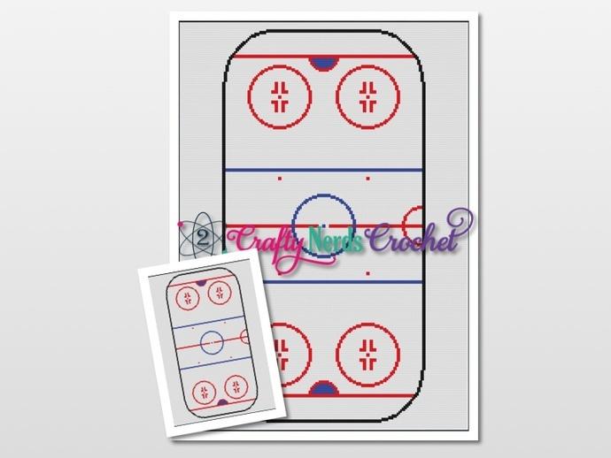 Hockey Arena Pattern Graph With Single Crochet Written