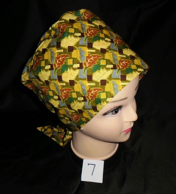 Handcrafted Ladies Surgical Scrubs Scrub Cap Pixie Hat Medical Caps Colorful
