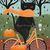 Autumn Black Cat Bicycle Ride Folk Art Giclee PRINT 8x10, 11x14 Cat Lover Gift