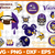 Minnesota Vikings Svg Png Jpeg Dxf Eps Vector Files, cut file, digital clipart,