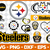 Pittsburgh Steelers Svg Png Jpeg Dxf Eps Vector Files, cut file, digital