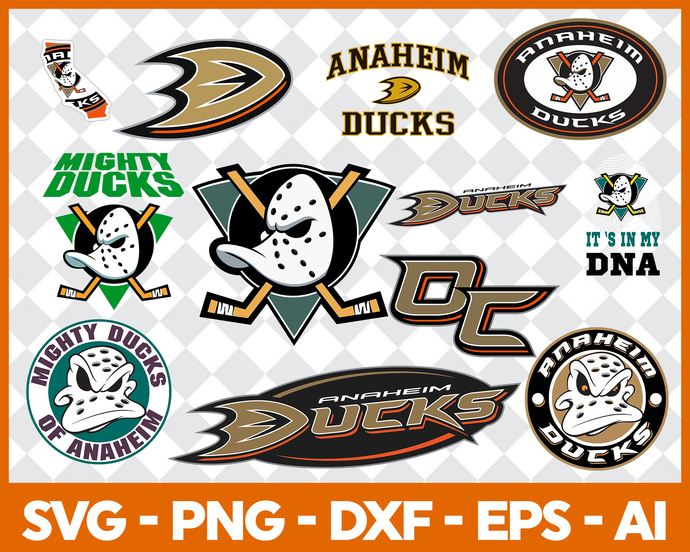 Anaheim Ducks Svg Png Jpeg Dxf Eps Vector Files, cut file, digital clipart, Nfl