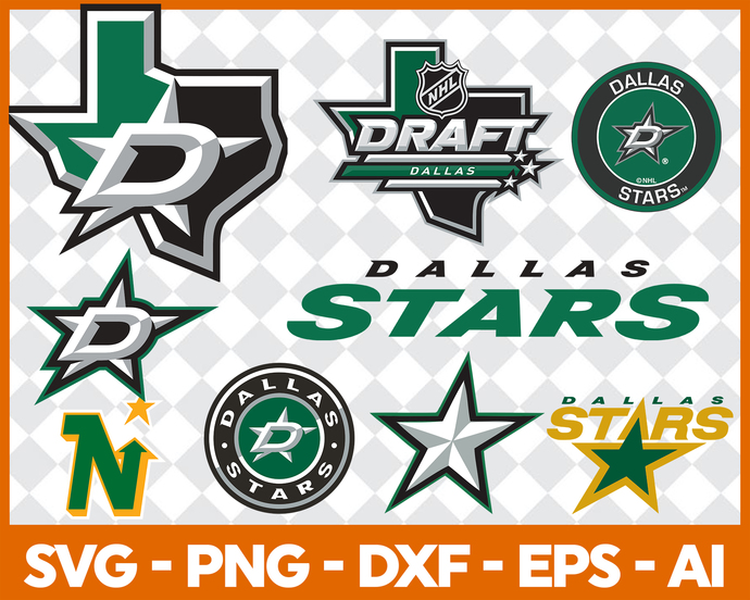 Dallas Stars Svg Png Jpeg Dxf Eps Vector Files, cut file, digital clipart, Nfl