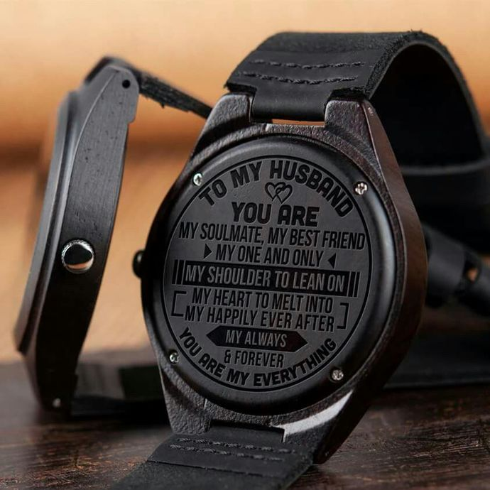 Christmas Gifts For Husband - Great Gift For Husband Wooden Watch - Perfect Gift