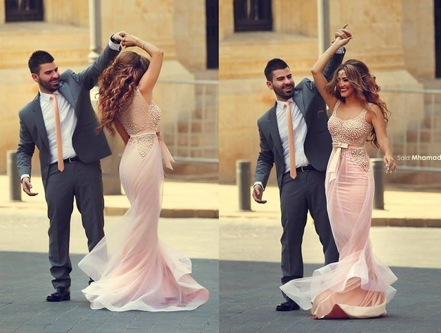pink pearl Prom Dress Mermaid Prom Dress Formal evening Dress Pageant