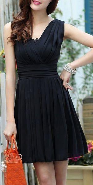 Pleated Prom Dress,Black Prom Dress,Mini Prom Dress,Fashion Prom Dress,Sexy