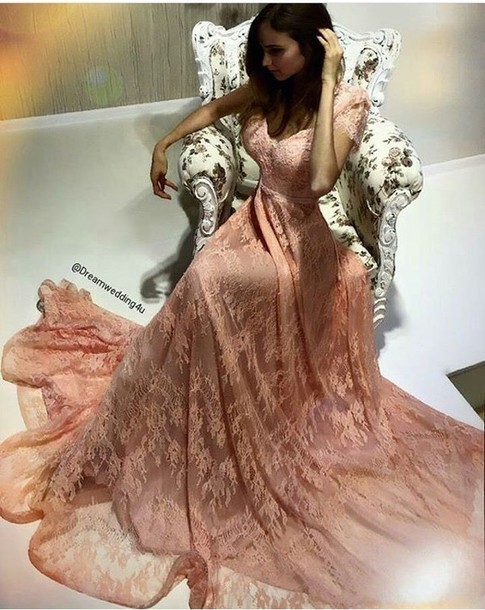 champagne Prom Dresses Evening Gowns,Lace Formal Dresses,Prom Dresses,new