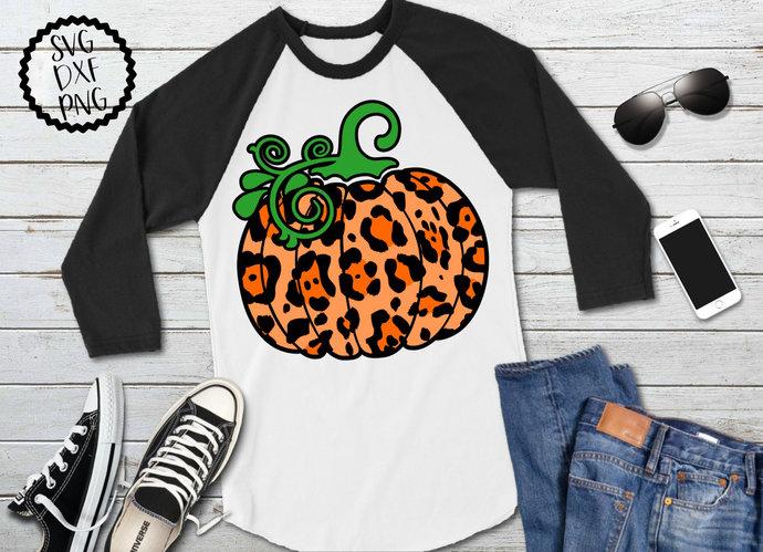 Leopard Print Pumpkin svg, Cheetah Pumpkin Clip Art, Halloween, svg, dxf, png,