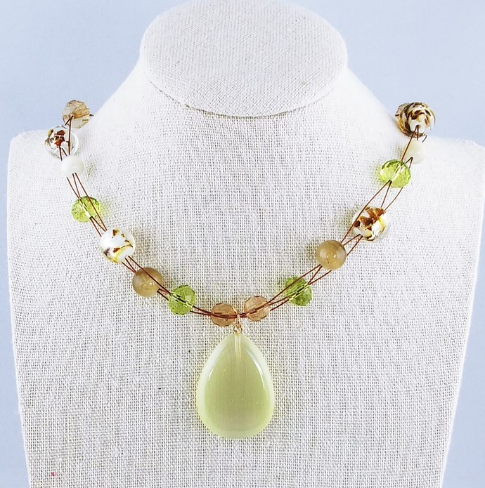 "17"" Multi Strand Beaded Necklace"