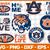 Aubrun-tigers Svg Png Jpeg Dxf Eps Vector Files, cut file, digital clipart, NCA