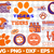 Clemson Tigers Svg Png Jpeg Dxf Eps Vector Files, cut file, digital clipart, NCA