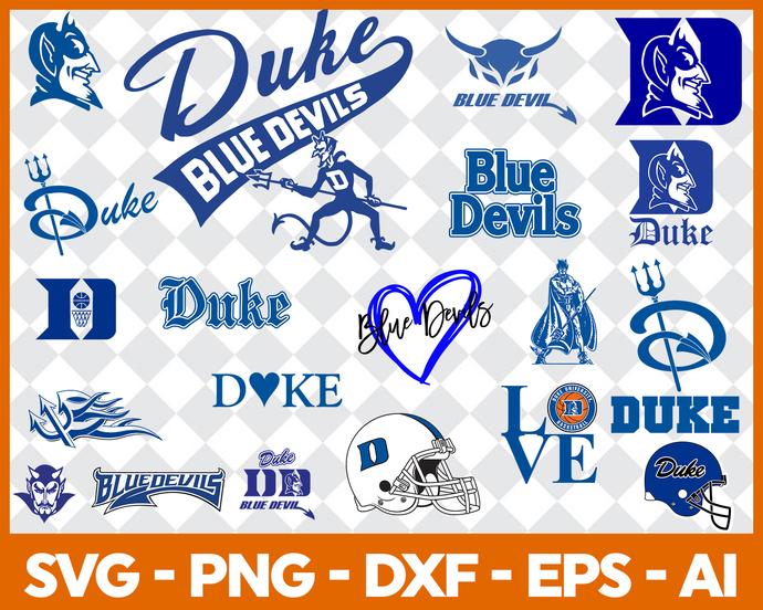 Duke Bluedevil Svg Png Jpeg Dxf Eps Vector Files, cut file, digital clipart, NCA