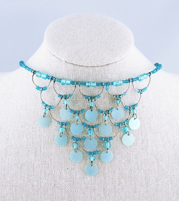 "15"" Choker Beaded Necklace"