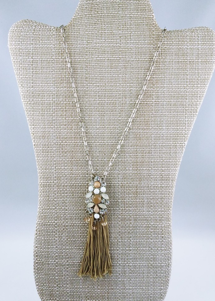 "30"" Chain Necklace with Tassel Charm"